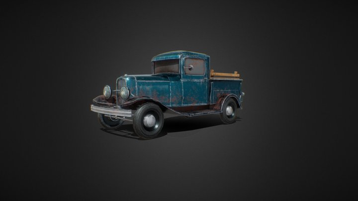 Ford Model B Pickup 3D Model