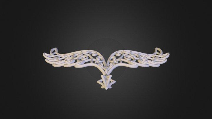 Angel Wings Pendant 3D Model