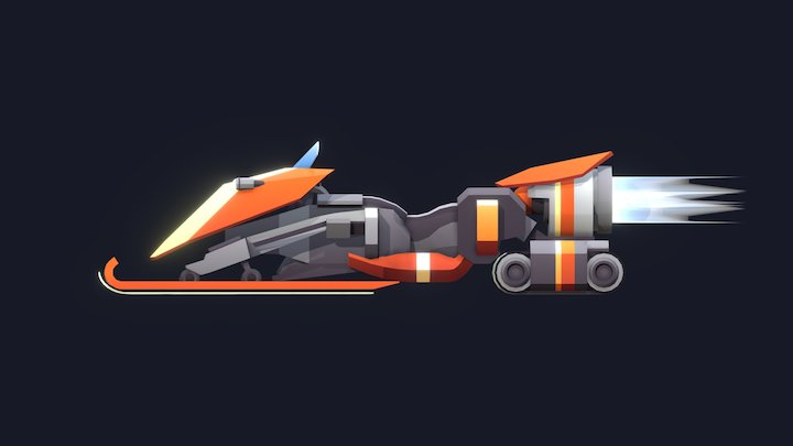 Ion-Snowmobile 3D Model