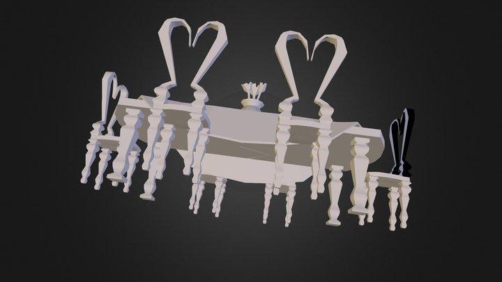 Eettafeltest 3D Model