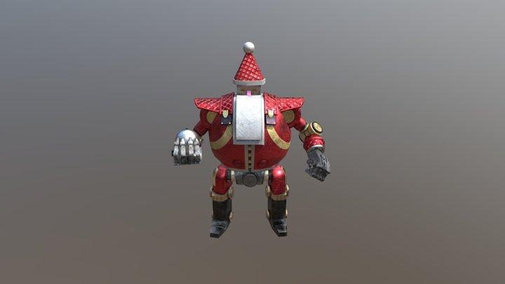 Santa Robot 3D Model
