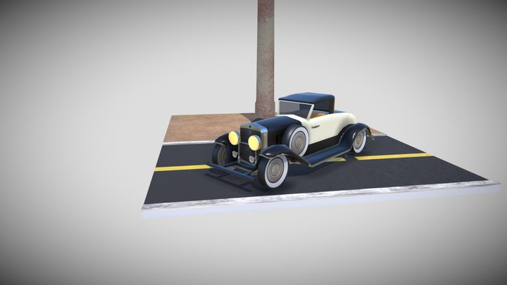 Old 30s Cadillac Inspired Car 3D Model