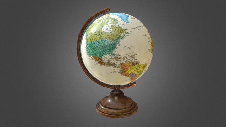 Classic Globe 3D Model