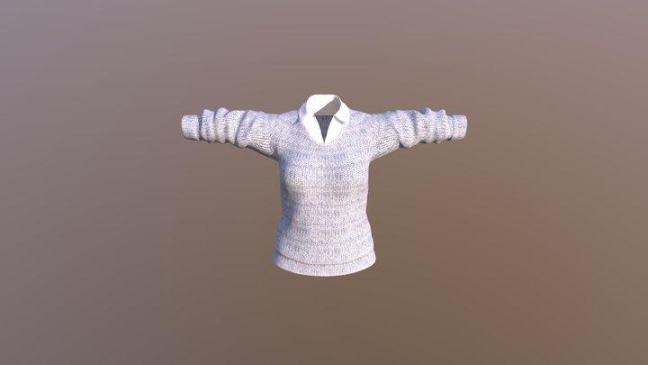 Blusa Mujer Con Texturas 3D Model