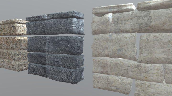 Wallstone-dimensional-planks 3D Model