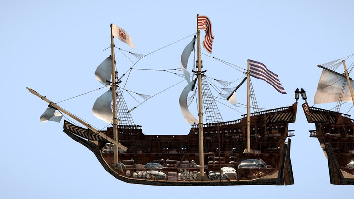 The Rotter Löwe Frigate 1567 3D Model