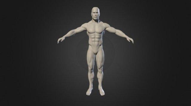 Male warrior model 3D Model
