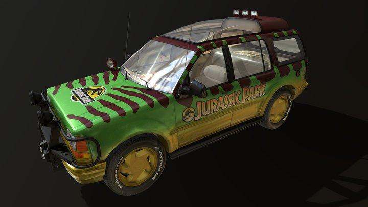 Explorer Jurassic Park Tour Car 3D Model