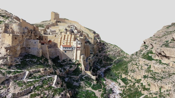 Mar Saba monastery - מנזר מרסבא 3D Model
