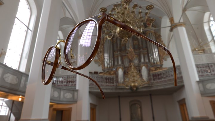 Boston style glasses 3D Model