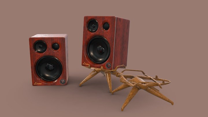 Speaker with stand 3D Model