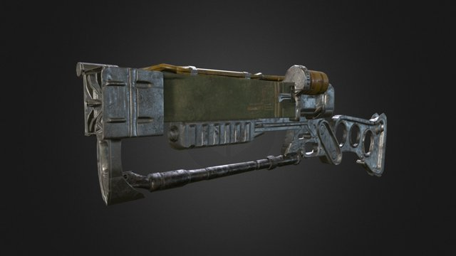 Winter Hand in Project - Fallout Laser Rifle 3D Model