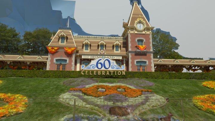 Disney-World-Magic-Kingdom-Main-Entrace-Train-St 3D Model