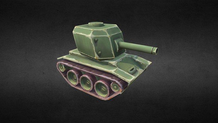 Stylized light tank 3D Model