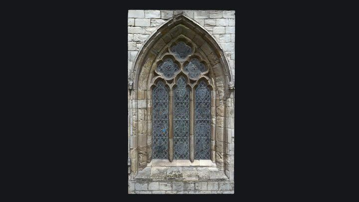 Gothic Style Medieval Church Window v.4 3D Model