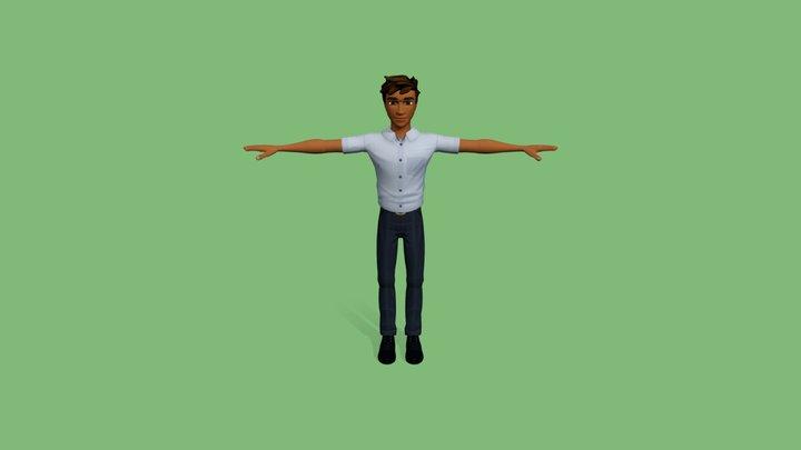 Teen Boy in Uniform 3D Model