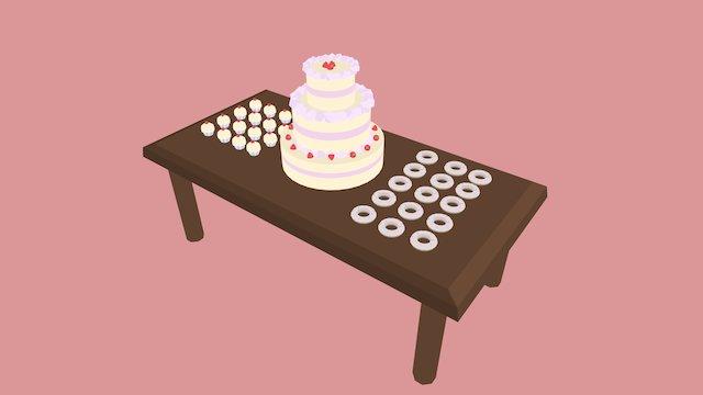 30Days3D Day 9: Dessert Table 3D Model