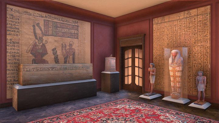 Virtual  Museum 3D Model