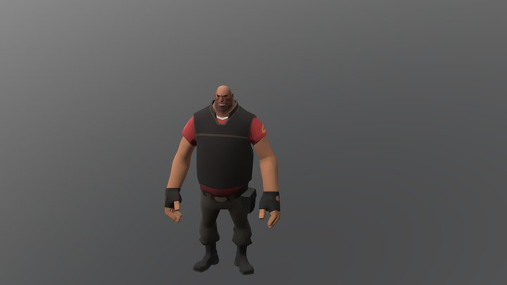heavy month-long face rig and animation 3D Model