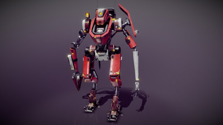 Expedition Mecha Action 3D Model
