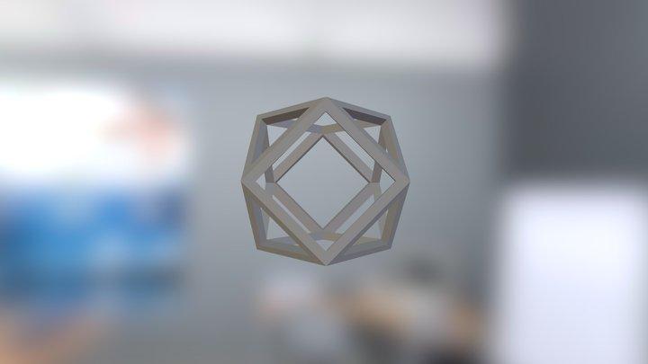 cuboctahedron 20 mm x 1 mm 3D Model