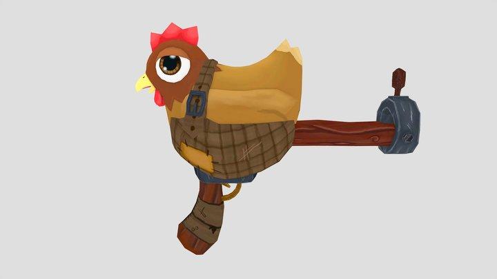 Chicken Gun 3D Model