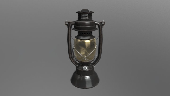 Old Kerosene Lantern 3D Model