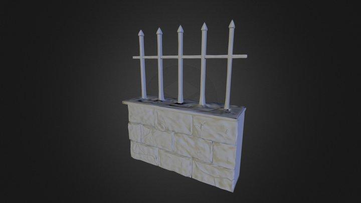 Grave Wall 3D Model