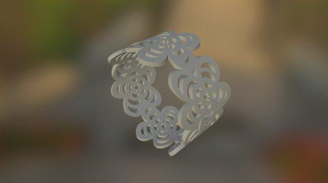 Bracelet Flower, Ready To Print 3D Model
