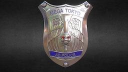 AD.Police badge 3D Model