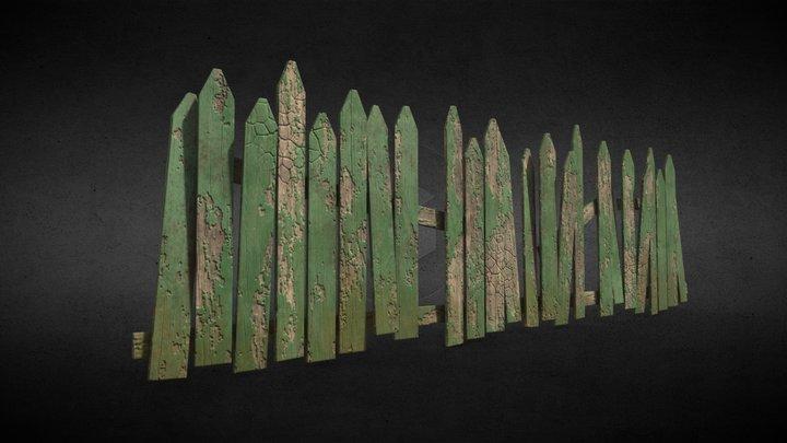Old fence 3D Model