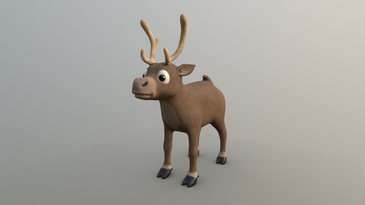 Reindeer 3D Model