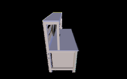 Revised ESD lab table 3D Model