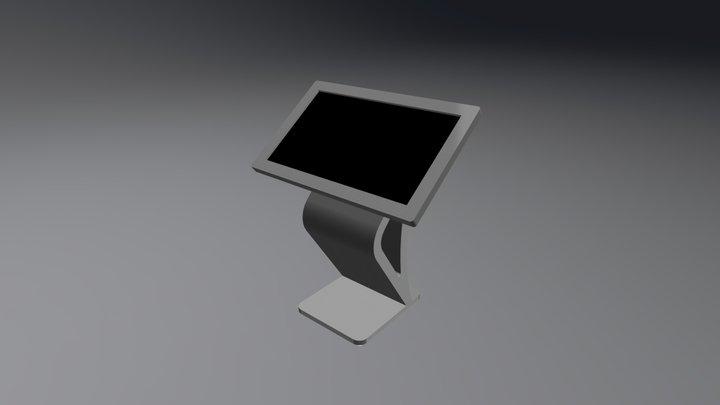 Kiosk Podium 3D Model