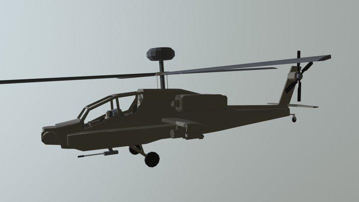 AH-64 Apache 3D Model