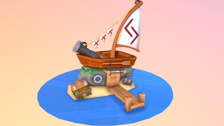 Lost boathouse 3D Model
