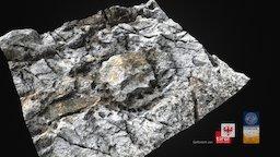 Detailaufnahme der Abbauspuren - Lavezbruch 03 3D Model