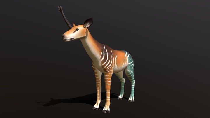 Castorian Unicorn 3D Model