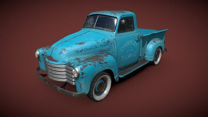 Chevrolet 3100 (Advance-Design) Pickup 50s 3D Model