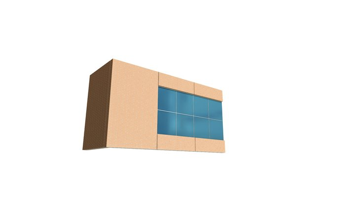 Stresscon Ball Corp Thin Brick Panel Detail 3D Model