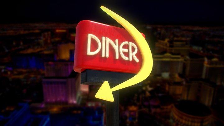 Diner Sign 3D Model