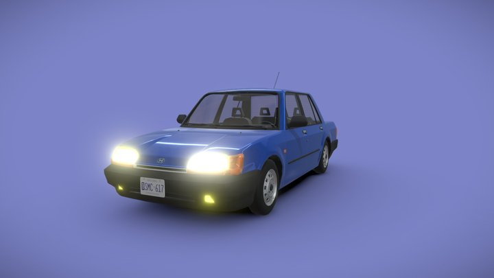 1991 Hamada Voxel w/ Interior 3D Model
