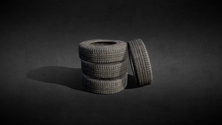 Dirty Old Tires 3D Model