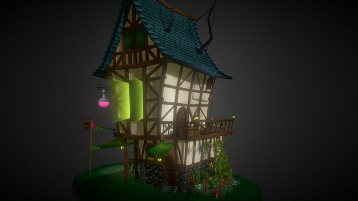Village House Project 3D Model