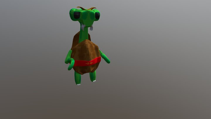 Manty the kungfu turtle 3D Model