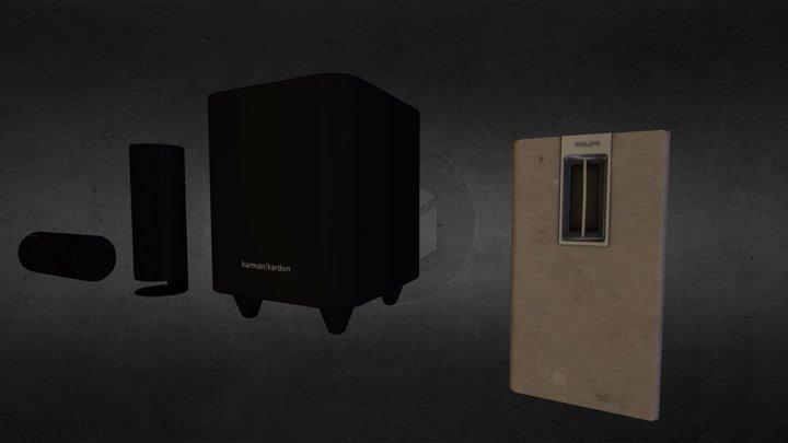 Low-poly Speakers 3D Model