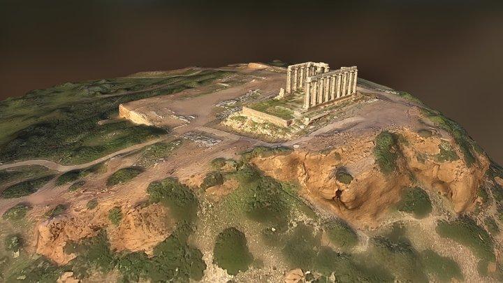 Poseidon Temple at Sounion, Greece 3D Model