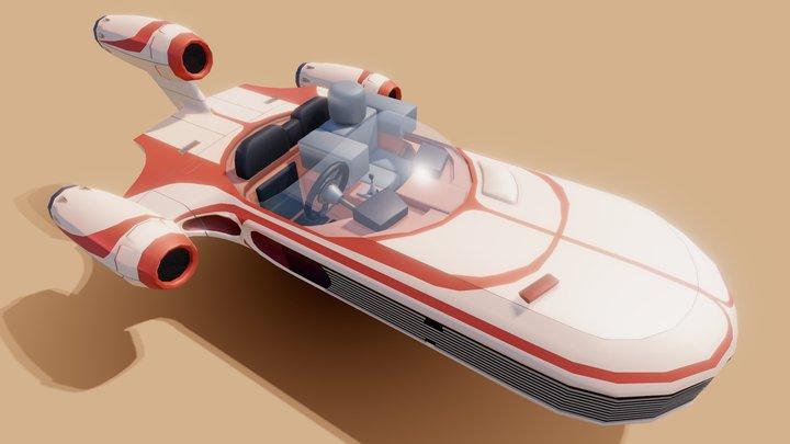 Star Wars X-34 Landspeeder [FREE] 3D Model