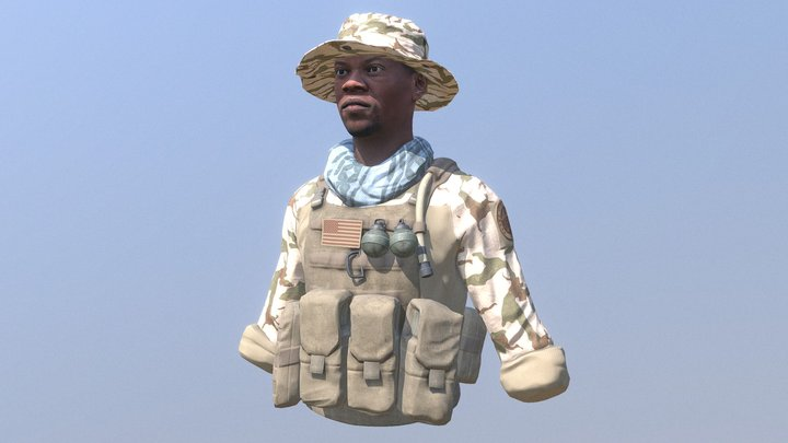 Navy Seal Bust 3D Model