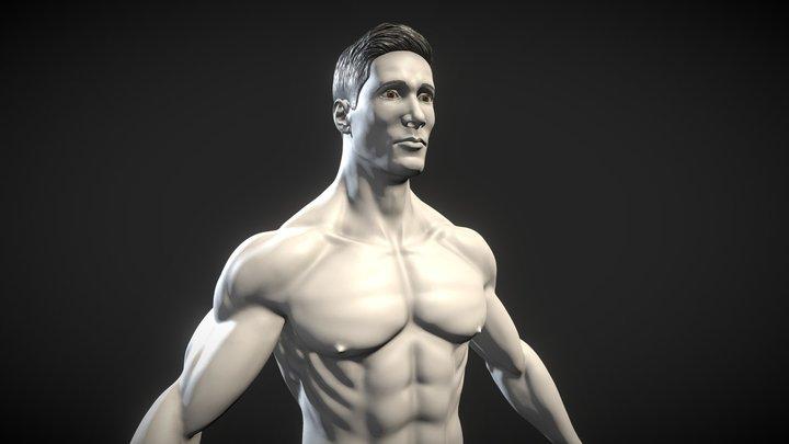 Male Anatomical Base - Hombre / Man 3D Model